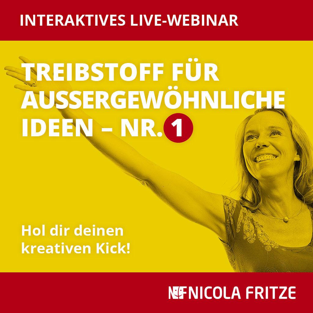 Nicola Fritze – Treibstoff für außergewöhnliche Ideen Nr. 1